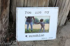 Personalized Mother Daughter Picture Frame Gift.  'You Are My Sunshine' Gift  5x7. Mothers Day Child Birthday Parents Grandparents Gift on Etsy, $32.00