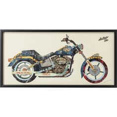 Los Angeles Rider - Dimensional Art Collage Hand Signed by Alex Zeng Framed Graphic Wall Art Shadow Box Frames, Frames On Wall, Wall Collage, Framed Wall Art, Artwork Pictures, Contemporary Wall Art, Bike Frame, Home Decor Wall Art, Box Art