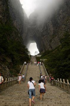 35 Astonishing Places Around the World, Tianmen Mountain, Hunan, China
