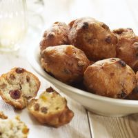 Sweet Raisin Doughnut holes.  Might give this a try.