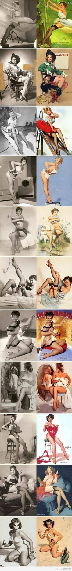 pin up girls vs real by lucy_a