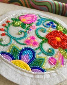 almost done! #beadedflorals #colourpop #workinprogress