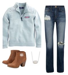 """""""Fall>>"""" by nc-preppy ❤ liked on Polyvore featuring Vineyard Vines, J.Crew and Kendra Scott"""