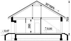 DOM.PL™ - Projekt domu ARD Rumianek 1 paliwo stałe CE - DOM RD1-70 - gotowy koszt budowy Floor Plans, Dinner, Projects, Floor Plan Drawing, House Floor Plans