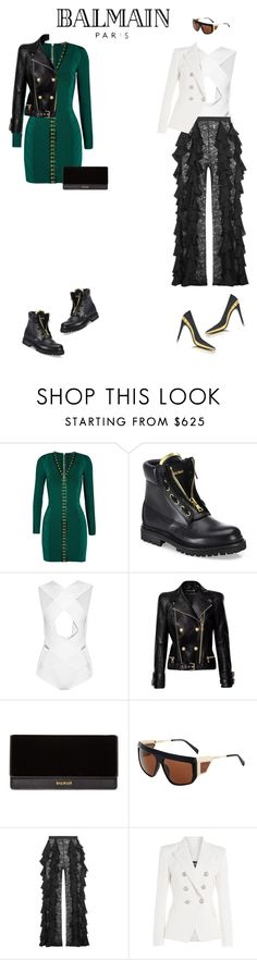 """BALMAIN"" by krisz-kn ❤ liked on Polyvore featuring Balmain"