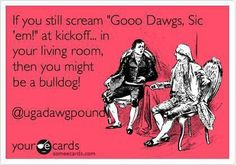 """If you still scream..."" #uga #georgia #bulldog #bulldawg #sec #football    (Is there any other way?)"