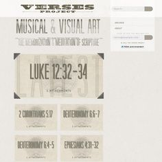 Great new website with music and art for memorizing the Word - 'http://theversesproject.com/'