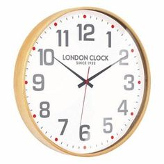 Small Boho Natural Wood Case Glass Lens ø: 24323 The London Clock Co. Traditional Clocks, Contemporary Clocks, London Clock, Wall Clock Online, Cool Clocks, How To Make Wall Clock, Online Gift Shop, New Energy, Frames On Wall