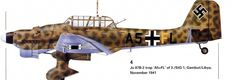 "Junkers ""Stuka"". » Ju-87 B-2.trop №:A5+FL of 3./StG1,Gambut / Libya 1941."