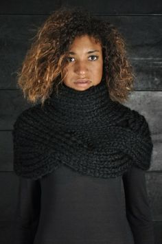 Knitted turtleneck shrug.