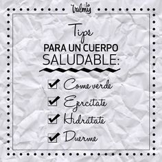 #ConsejoDeBelleza #Belleza #Cuerpo #Saludable #Ejercitate #Hidratate #Descansa #Mujer #BeautyTip #Beauty #Tip #Valmy #Venezuela Tips Belleza, Beauty, Beauty Tips, Self Care, Healthy, Venezuela, Fur, Make Up, Woman