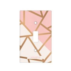 Shop Rose Gold Mosaic Light Switch Cover created by KDR_SHOP. Switch Plate Covers, Light Switch Covers, Light Switch Art, Diy Light Fixtures, Cute Paintings, Girl Bedroom Designs, Teen Room Decor, Outlet Covers, Diy Décoration