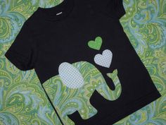 Elephant love kids t-shirt. $23.00, via Etsy.