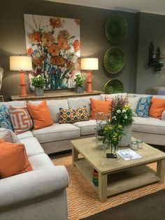 Colors With so lots of time cornered at your house through the coronavirus quarantine, is Living Room Orange, Colourful Living Room, Living Room Decor Cozy, Home Decor Bedroom, Home Living Room, Diy Bedroom, Living Room Color Schemes, Living Room Colors, Living Room Designs