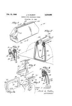 Brevetto US3234985 - Handbag with changeable covers - Google Brevetti