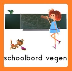 Takenbord Floddertje: schoolbord vegen