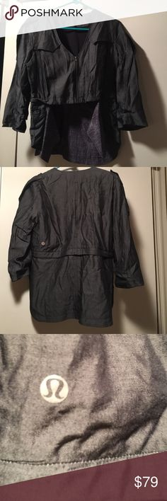 NWOT Lululemon lightweight stylish jacket This NWOT Lululemon stylish lightweight jacket with removable bottom panel can be worn long or as a crop jacket. lululemon athletica Jackets & Coats Blazers