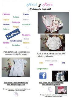 "Azul y Rosa Artesanía Infantíl ""Moda Bebé e Infantil""  WhatsApp: (+34) 645 53 91 19"