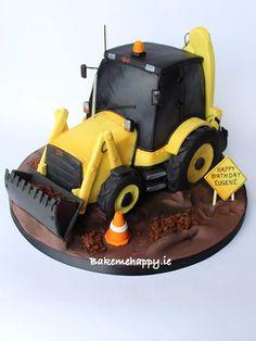 Jcb cake - Cake by Elaine Boyle Crazy Birthday Cakes, Mickey Mouse Birthday Cake, 60th Birthday, Birthday Photos, Birthday Ideas, Baby Boy Cakes, Cakes For Boys, Cake Kids, Birthday Cake Decorating
