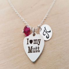 "-""I Love My Mutt Necklace"" - BD Luxe Dogs & Supplies - 1"