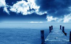 mer et ciel bleu nuage wallpaper landscape