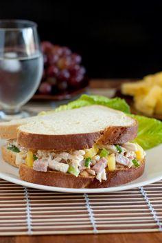 Hawaiian Chicken Salad Sandwiches