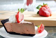 Chocolate-Strawberry Truffle Pie... yum!