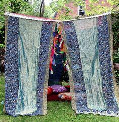Sari BED CANOPY, Canopy Bed Curtains, Wedding Chuppah, Boho Tent, pavilion  #ColorsByPadmini #Novelty
