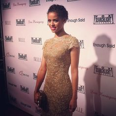 { TORONTO } We have never had more gender envy than when watching #BelleMovie's Gugu Mbatha-Raw walk our #TIFF13 carpet #whyarentwegirls #gorgeous
