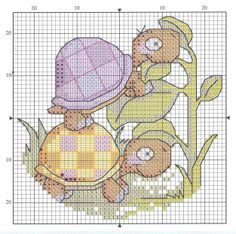 2 small turtles  (cross stitch)