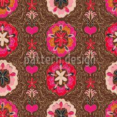Floralie Braun | www.Stoff-Schmie.de - rapportfähige Textildesigns in unglaublicher Vielfalt