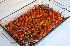 Oven Roasted Cherry Tomatoes @Potholes and Pantyhose
