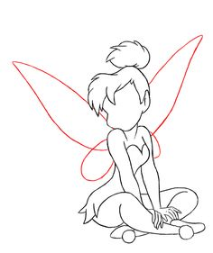 Back Drawing, Paper Drawing, Fairy Drawings, Art Drawings Sketches, Tinkerbell Drawing, How To Draw Tinkerbell, Tinkerbell Quotes, Desenho Peter Pan, Peter Pan Drawing