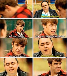 Finn and Rae are friends again (My Mad Fat Diary, S2)