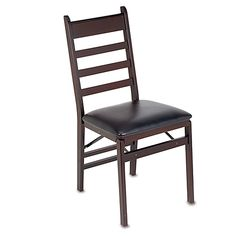 Cosco® Wood Folding Chair with Padded Seat
