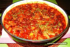 Gravce na tavce — Coolinarika Meat Recipes, Recipies, Cooking Recipes, Turkish Dessert, Croatian Recipes, Main Courses, Curry, Soup, Dishes