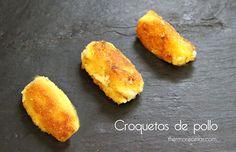 La receta de croquetas de pollo para que queden crujientes y cremosas. Una de las recetas de aprovechamiento por excelencia. ¡¡pruebalas!!