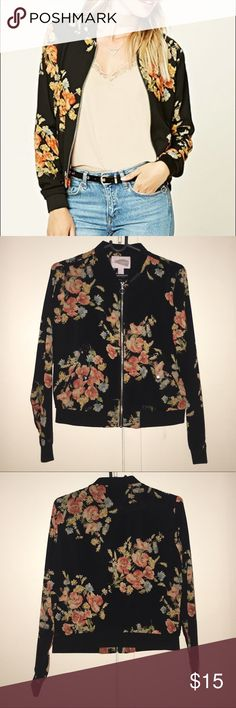 NEW Forever21 Floral Jacket NEW NEVER WORN! This lightweight jacket perfect for spring and summer! It has two snap pockets as well. Forever 21 Jackets & Coats