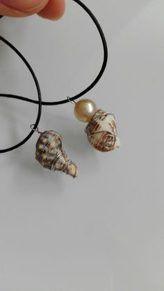 My first diy necklaces made of shells.