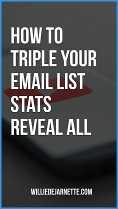 Email Marketing. How To Triple Your Email List Stats Reveal All. A powerful video that has an email marketing strategy that will triple your email list in no time. Please watch the video. #emailmarketing #emailmarketingtips #emailmarketingresponsivo #emailmarketingcampains Email Marketing Strategy, E-mail Marketing, Marketing Automation, Online Marketing, Social Media Marketing, Digital Marketing, Marketing Ideas, Email List, Blogging For Beginners