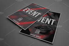 Devil Red Flyer Template by Tzochko on @creativemarket