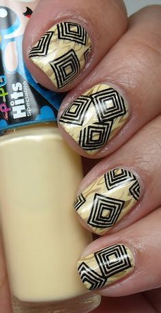 Image plates Mash-35/48 Barry M Foil Effect Gold and special polish black.