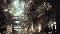 Steampunk Revue: Lantern City Concept Art