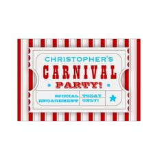 Shop Admission Red White Carnival Birthday Party Sign created by kat_parrella. Kids Carnival, Carnival Themes, Party Themes, Red Birthday Party, Carnival Birthday Parties, Circus Birthday, Themed Parties, Birthday Gifts, Christmas Planters