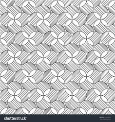 Repeating seamless vector background. Black and white texture.
