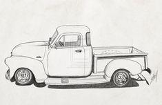 cartoon 1954 chevy truck - Google Search