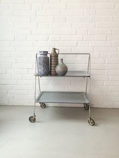 Vintage kleiner TischTeewagen Dinett Beistelltisch Mid von moovi