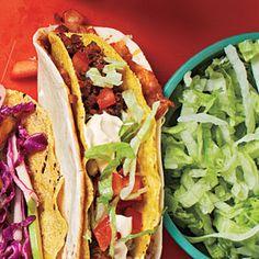 Double-Layer Beef Tacos   MyRecipes.com