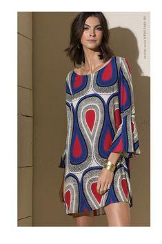 Catálogo Totem 4 Short African Dresses, Short Long Dresses, Simple Dresses, Casual Dresses, Fashion Dresses, Sara Fashion, 70s Inspired Fashion, Ankara Gown Styles, Classy Dress