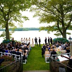 Outdoor wedding ceremony // photo: Kathi Litttwin Photography // Event Planning: Lisa Petroni //  http://www.theknot.com/weddings/album/a-romantic-outdoor-wedding-in-rye-ny-133356
